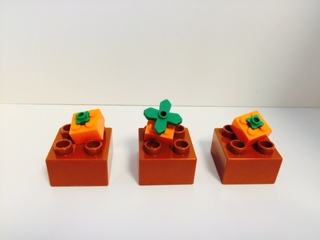 簡単なレゴのカボチャ